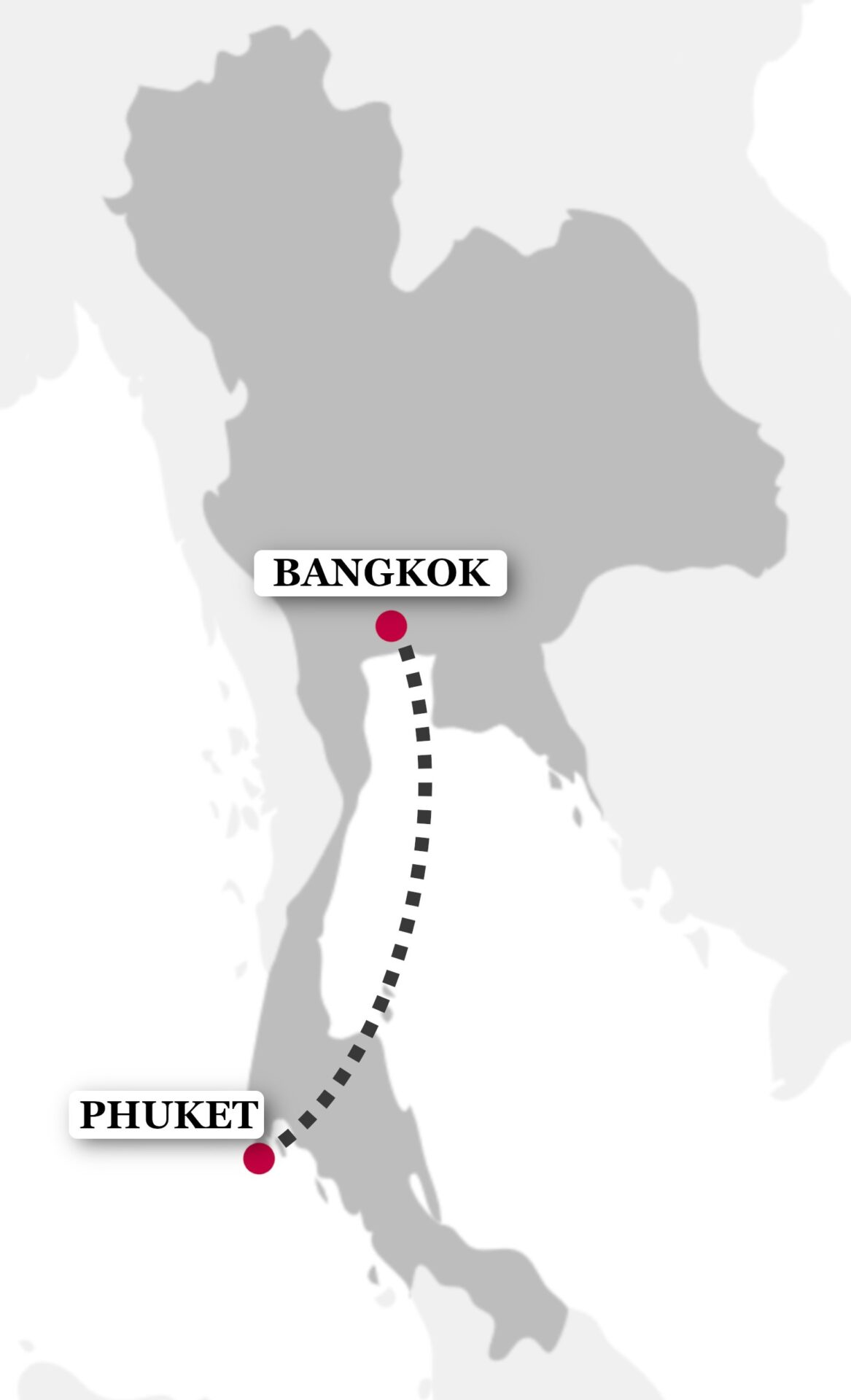 Bangkok & Phuket Tour Map