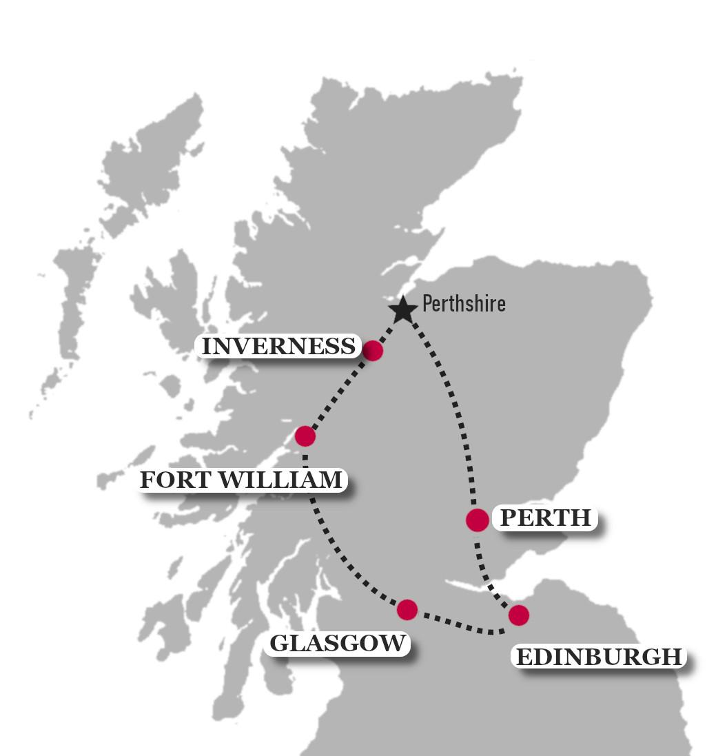Classic Scotland Map