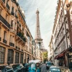 Streets of Paris in France