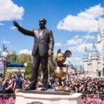 Statue of Walt Disney and Micky Mouse at Disney World