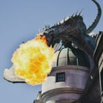 Dragon on top of Gringotts Bank in Universal Studios Orlando