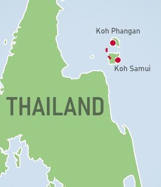 Koh Samui & Koh Phangan Map